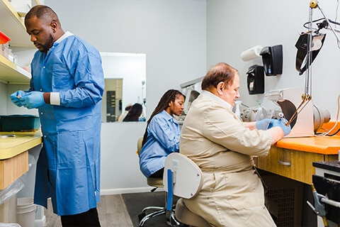US Dental has a modern in house denture lab